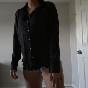 A Black Button Down